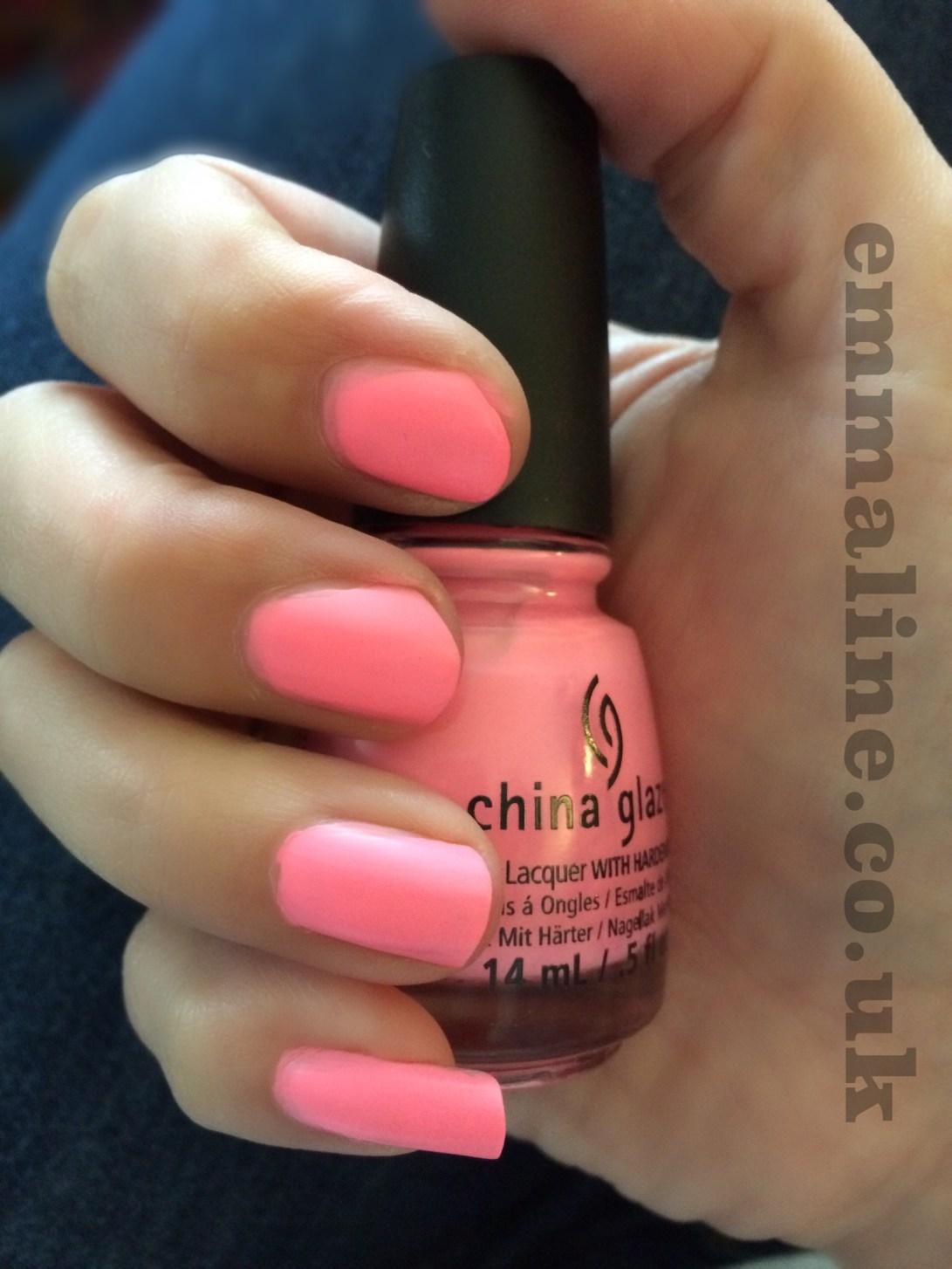 Pink China glaze nail varnish