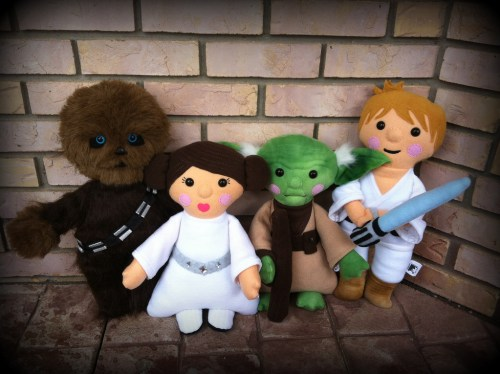 Stars Wars handmade felt plushies by Hope Watthanaphand on Flickr