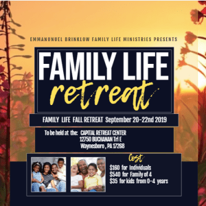 FAMILY LIFE RETREAT update