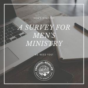 MEN'S MINISTRY SURVEY