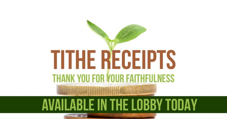 TITHE RECEIPTS