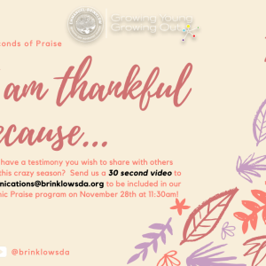 I AM THANKFUL BECAUSE