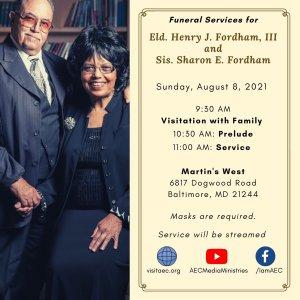 CELEBRATION OF LIFE FOR ELDER HENRY & SHARON FORDHAM