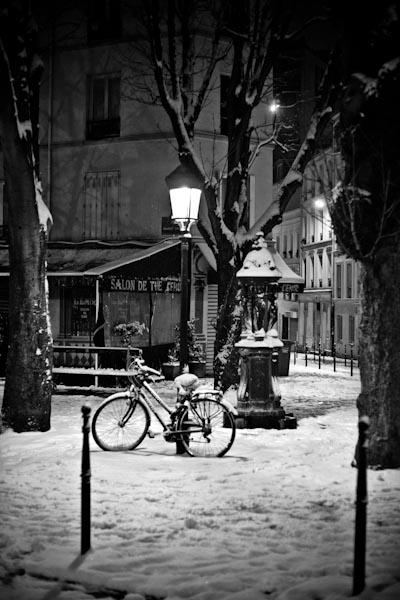 Photo Paris Ménilmontant la nuit