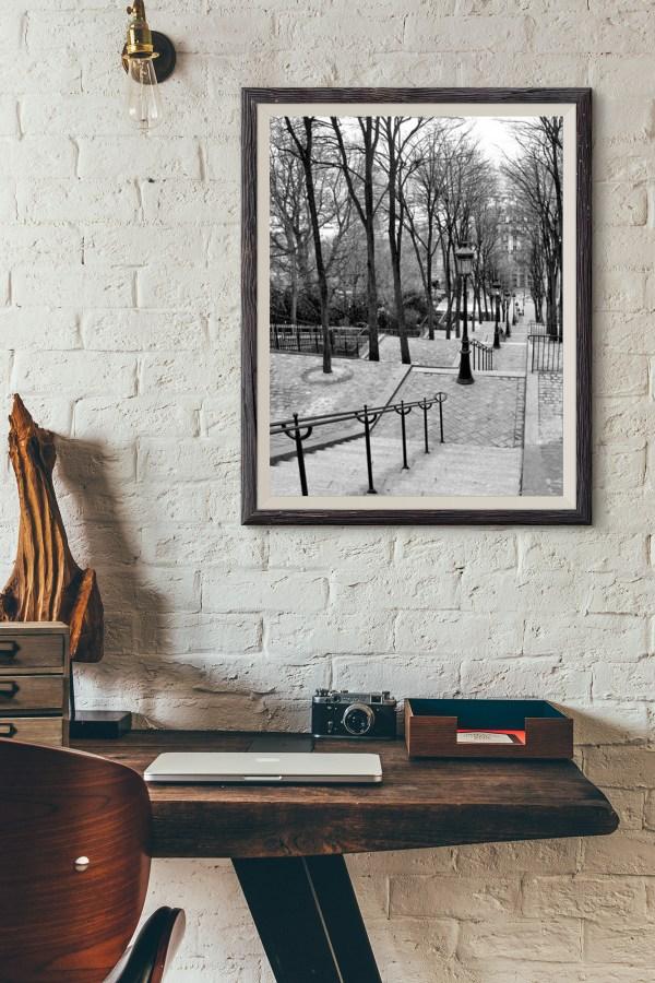 Escaliers à Montmartre Vieux Paris