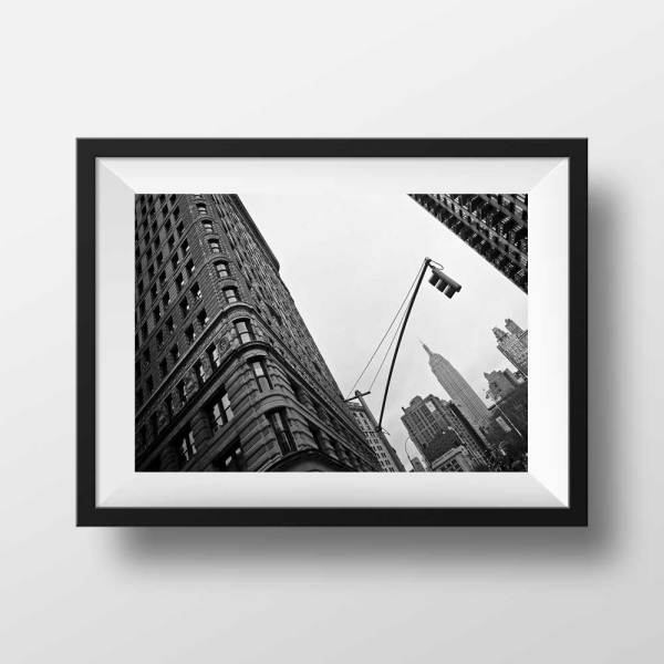 Flat Iron et Empire State Building Photo Noir et Blanc