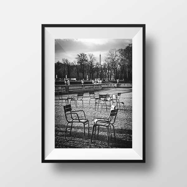 Photo Paris Jardin du Luxembourg et La Tour Eiffel