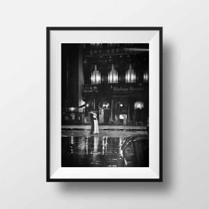 Tirage Photo Noir et Blanc Venise Amoureux