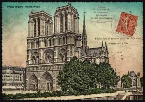 Cartes Postales Paris vintage - Notre Dame de Paris