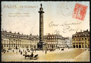 Cartes Postales Paris vintage - Place Vendôme
