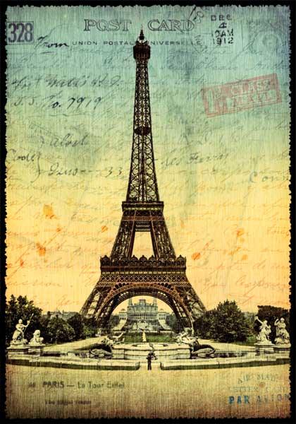 Carte Postale Paris Vintage - Tour Eiffel 1900 PPOF 028 - Emmanuel Gill