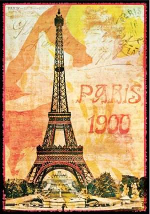 Cartes Postales Paris vintage - Tour Eiffel 1900