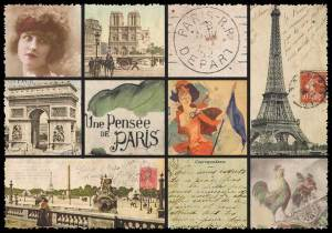 Cartes Postales Paris vintage - Collage