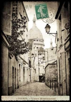 Cartes Postales Paris vintage -Montmartre et le Sacré Coeur