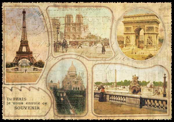 Carte Postale Paris Vintage - De Paris je vous envoie ce Souvenir PPOF 081 - Emmanuel Gill