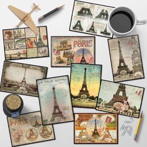 Lot 10 cartes postales Paris anciennes