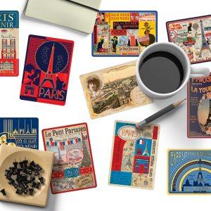 Cartes Postales Paris Souvenir - Dorure à Chaud