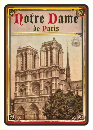 Carte Postale Paris Souvenir - Paris Notre-Dame CPD 034