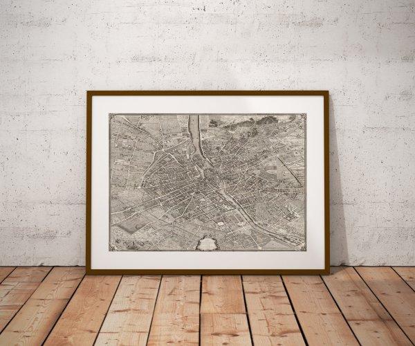 Plan Ancien Paris Turgot 1734
