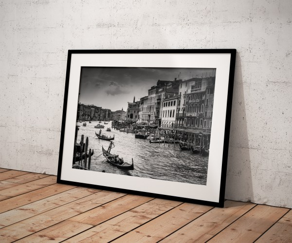 Photo Noir et Blanc Venise Grand Canal