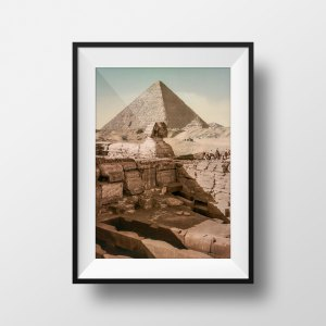 Photo Ancienne Pyramide Sphinx Egypte