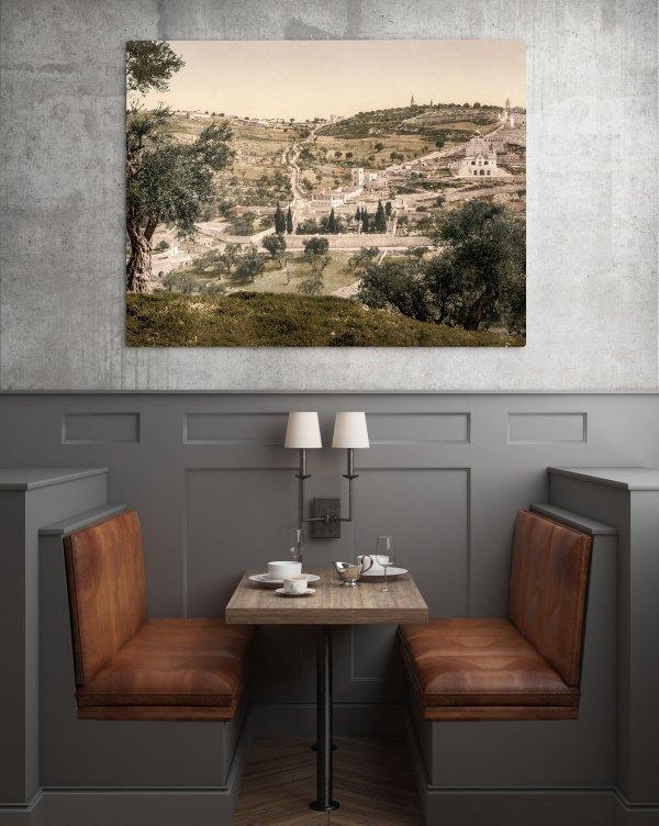 Photo Ancienne Jerusalem Le Mont des Oliviers