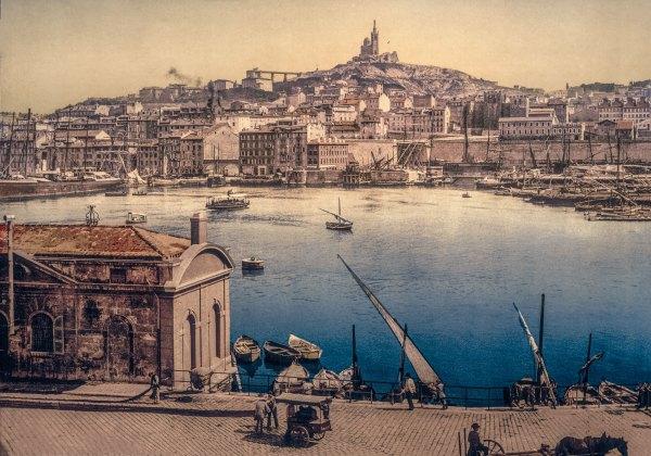 Photo Ancienne Marseille Le vieux Port