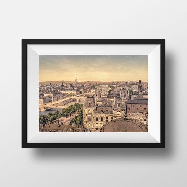 Photo Ancienne Paris Vue Panoramique