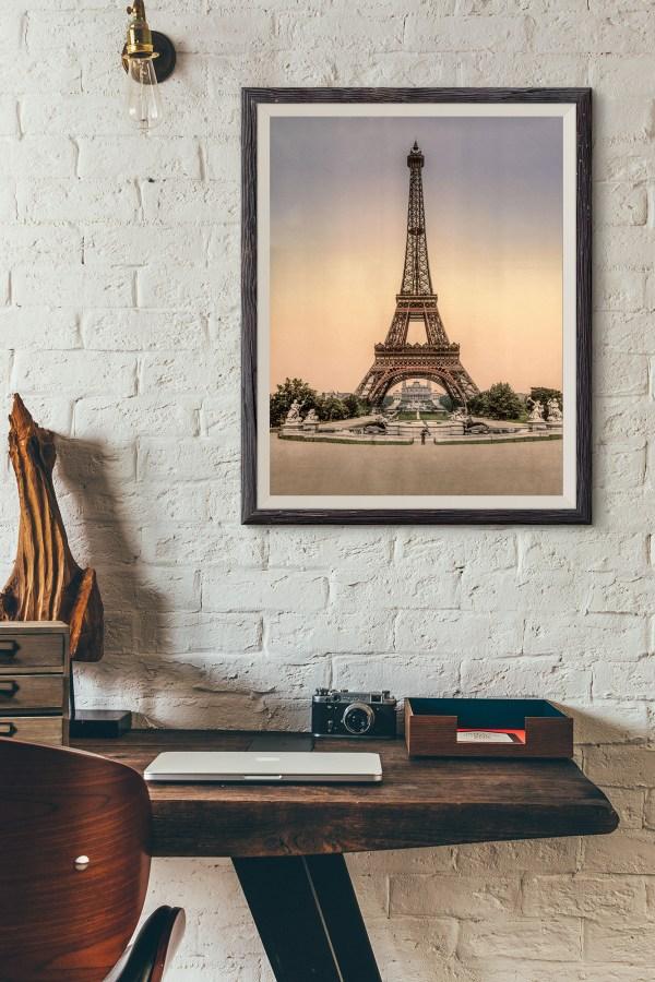 Photo ancienne Tour Eiffel 1900