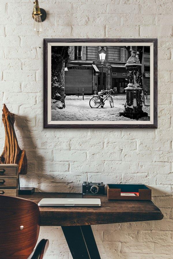Photo Paris Ménilmontant Vieux Paris Sous la neige
