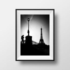 Tirage Photo Paris Tour Eiffel Silhouette