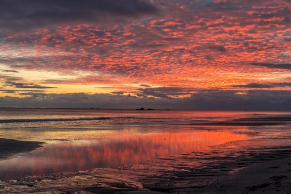Coucher de soleil Bretagne Plage Paysage Beg Meil Kerambigorn