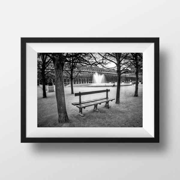 Photo de Paris – Banc Jardin du Palais Royal
