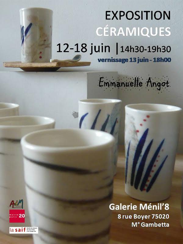 Expo 12-18 juin 2017 ** Galerie Menil'8 ** 8 rue Boyer à Ménilmontant