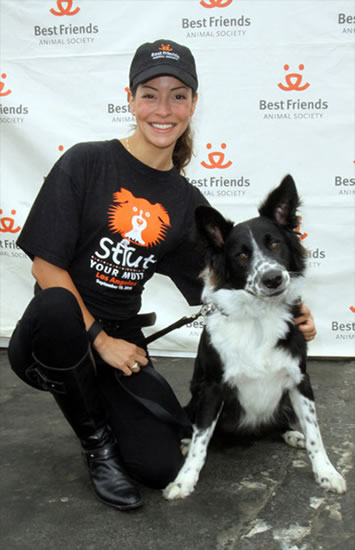 Emmanuelle Vaugier at Strutt your Mutt benefit