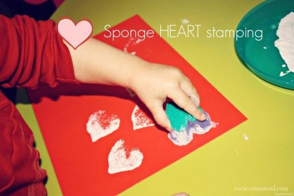Sponge Heart Stamping