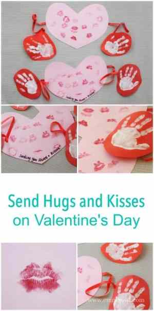 Send hugs and kisses this Valentines Day - such a great craft project for children with grandparents and loved ones far away!
