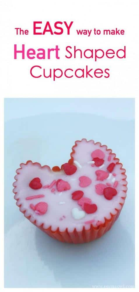 Heart Shaped Cupcakes Valentine S Day Baking