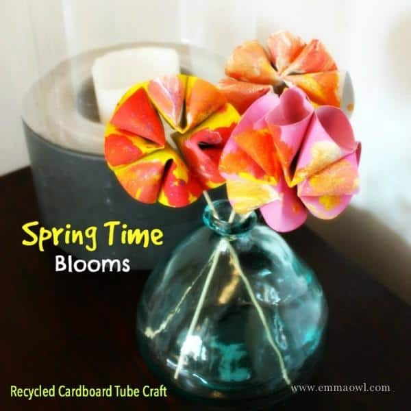 Toilet Roll Flowers - Recycled Spring Time Craft Idea