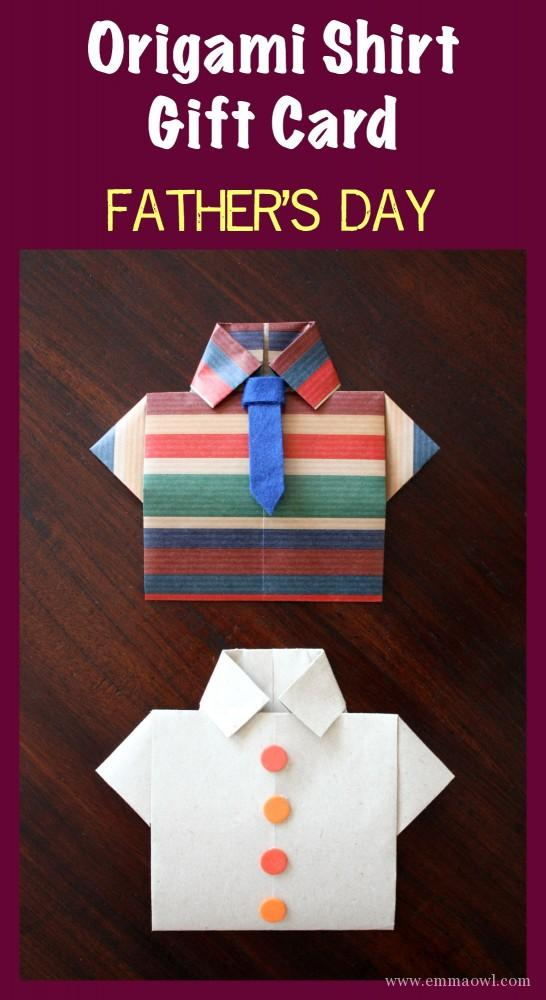 Father's Day Shirt Origami Card - Emma Owl
