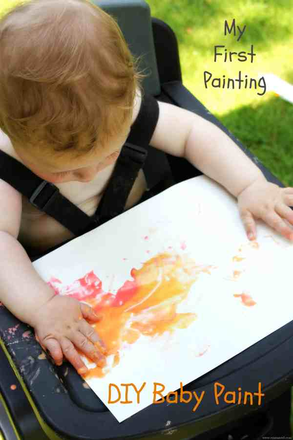 DIY Baby Paint My first painting easy to make
