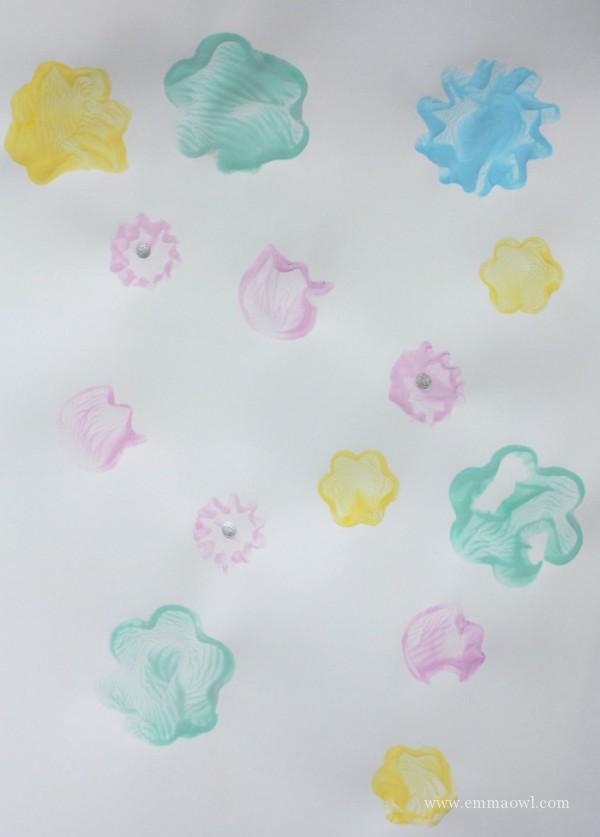 DiY Stamped Flowers