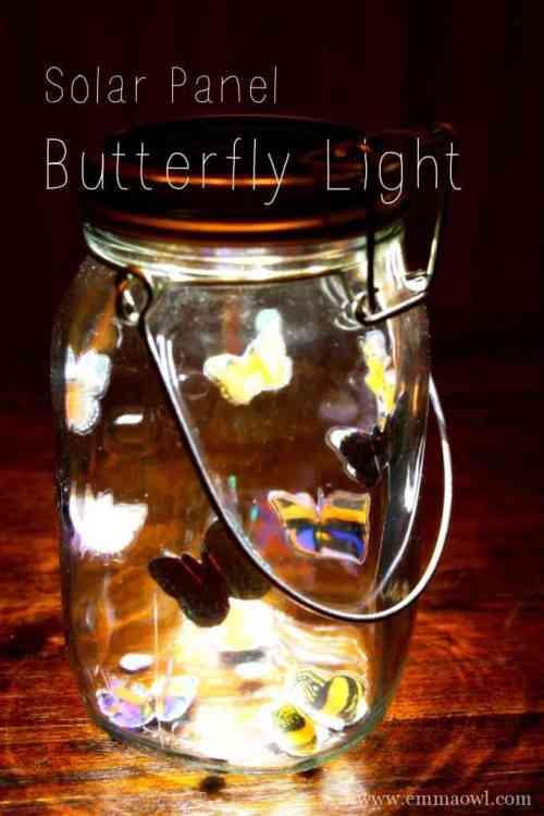 Solar Pannel Butterfly Light
