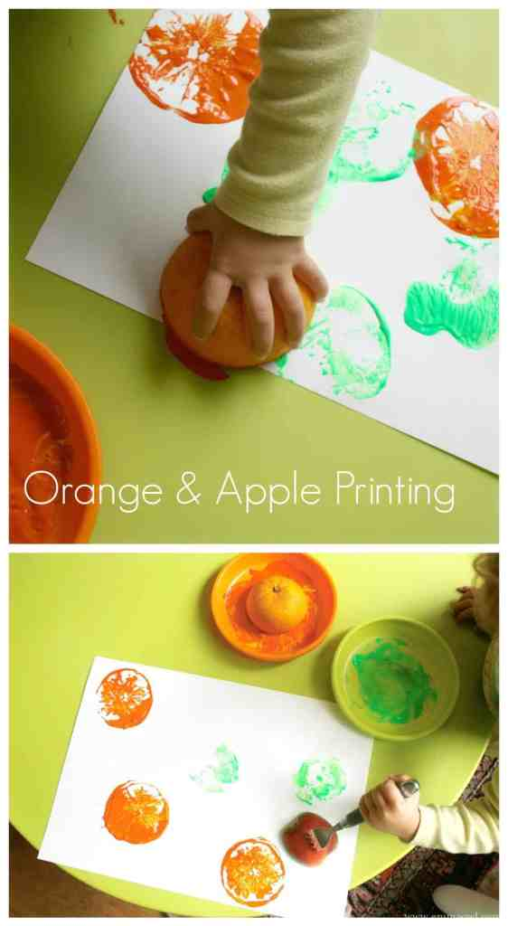 printing with oranges and apples