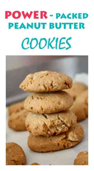 Peanut Butter Cookies filled with power. Great Family cookie recipe and so easy to make!
