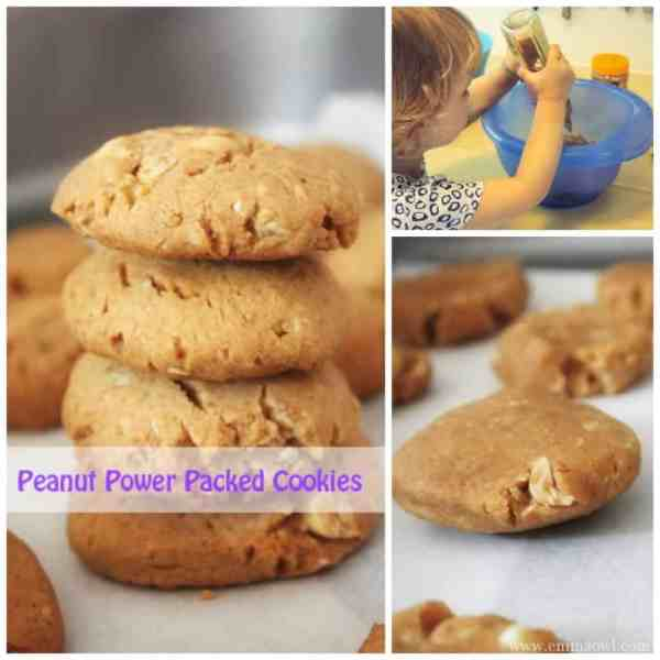 Power packed peanut packed cookies