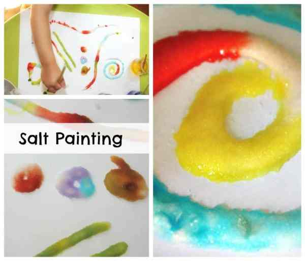 Salt Painting - A great way to paint