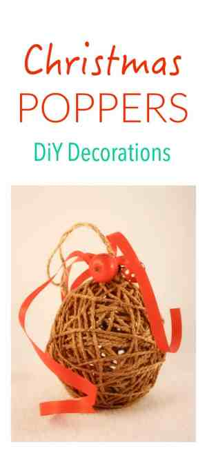 Make your own - easy to make - Christmas Tree Poppers. This is a great Kids Craft Project!