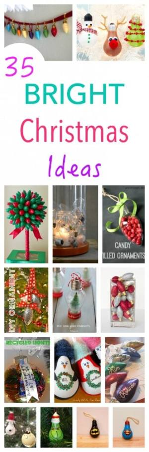 You can not believe how many ways you can repurpose a light bulb at Christmas Time! Great Christmas Craft Projects - from decorations to gifts to invitations...