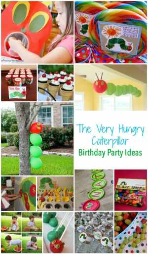 The Very Hungry Caterpillar Birthday Party Ideas - Food - Decorations - Games and more...